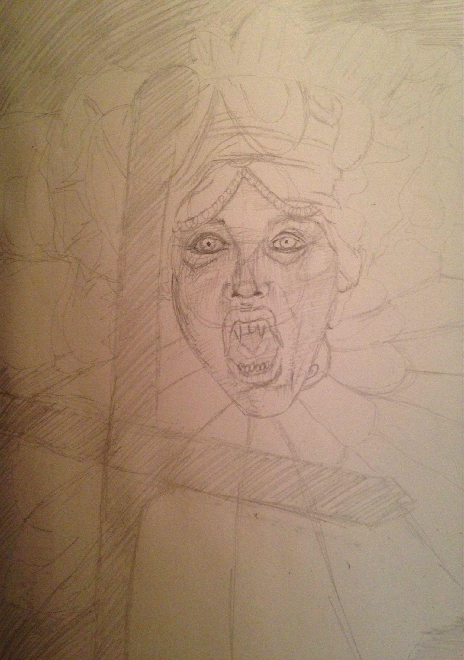 #inprogress #pencil #lucy #dracula #coloredpencils #sadiefrost