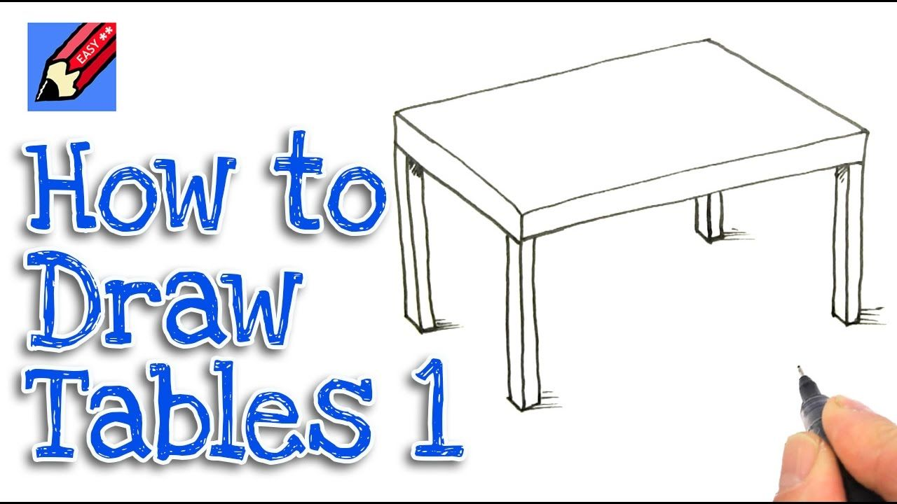 How To Draw A Table Real Easy Step By Step 1 Cat And Dog Drawing Easy Drawings Easy Drawings For Kids