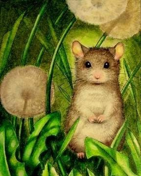 """""""Spring Mouse ACEO 1372"""" - by Melody Lee Lamb"""