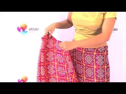 88c9520db32d9f How to wear Gujarati style Saree in the DIY Way - YouTube. Styles of Saree  Draping: ...
