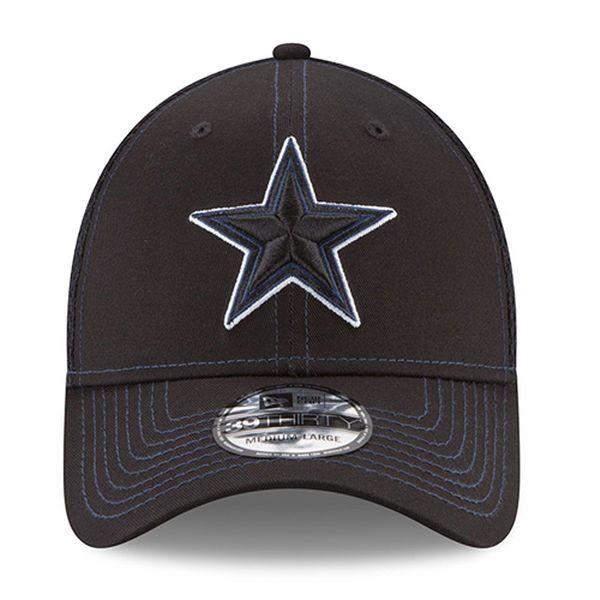 04f2f5d9174 New Era Dallas Cowboys Black Shock Stitch Neo 39THIRTY Flex Hat ...