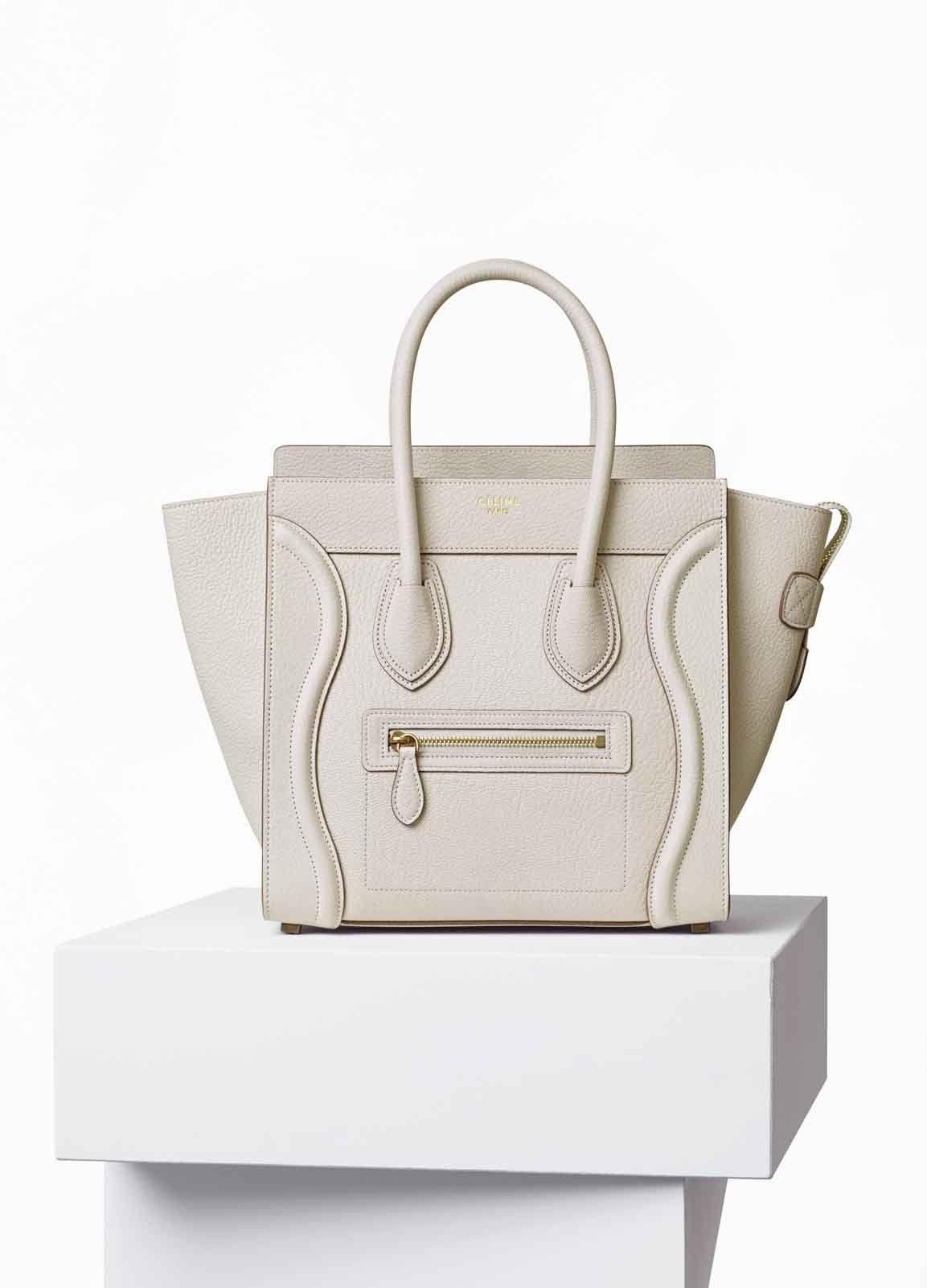 Blanc Céline Sacs Handbag À In Sac Main Mode Goatskin Luggage Micro wITqPWvAx