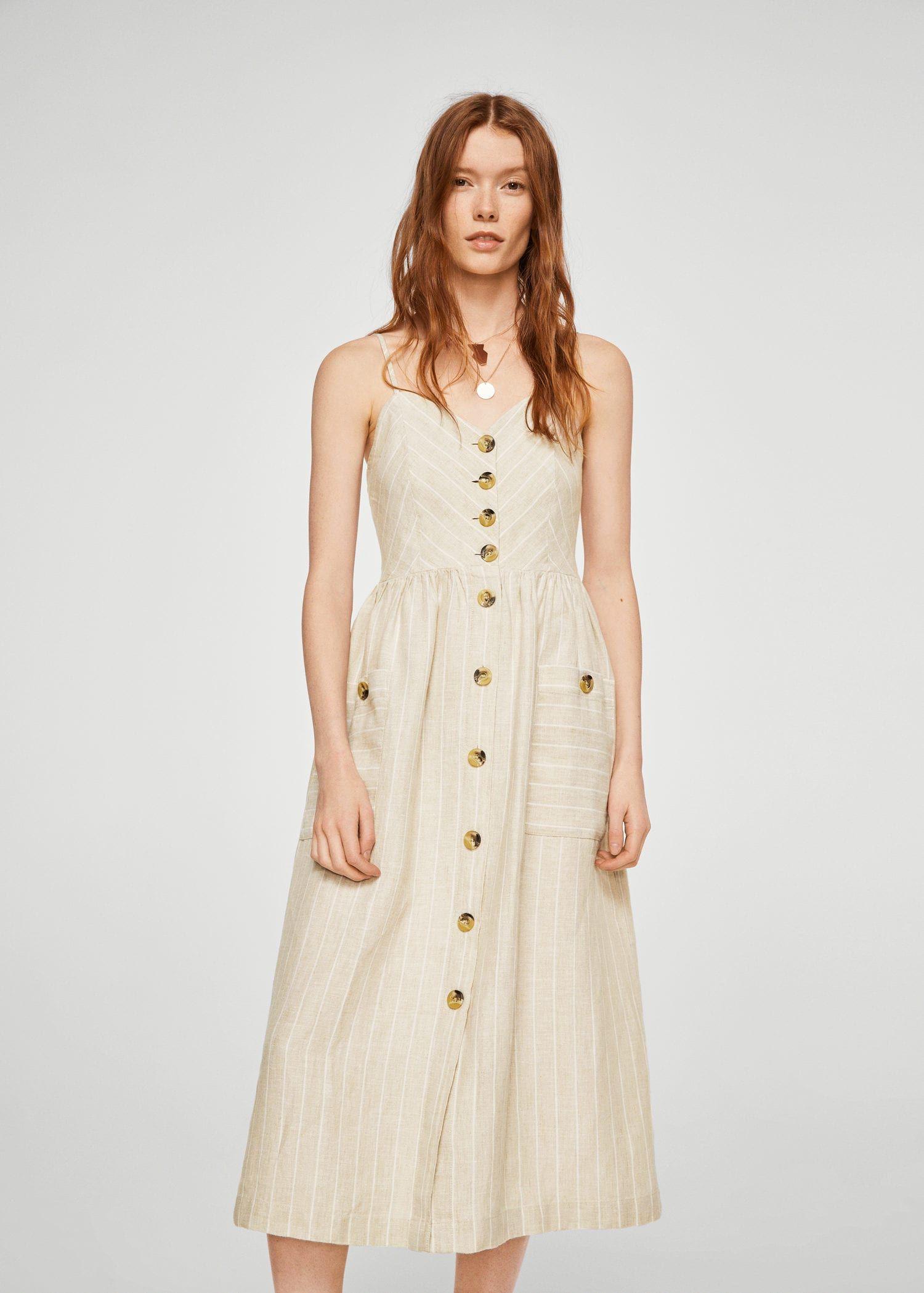 Striped Linen Dress Women Mango United Kingdom The Dress Cizgili Elbise Kadin Olmak