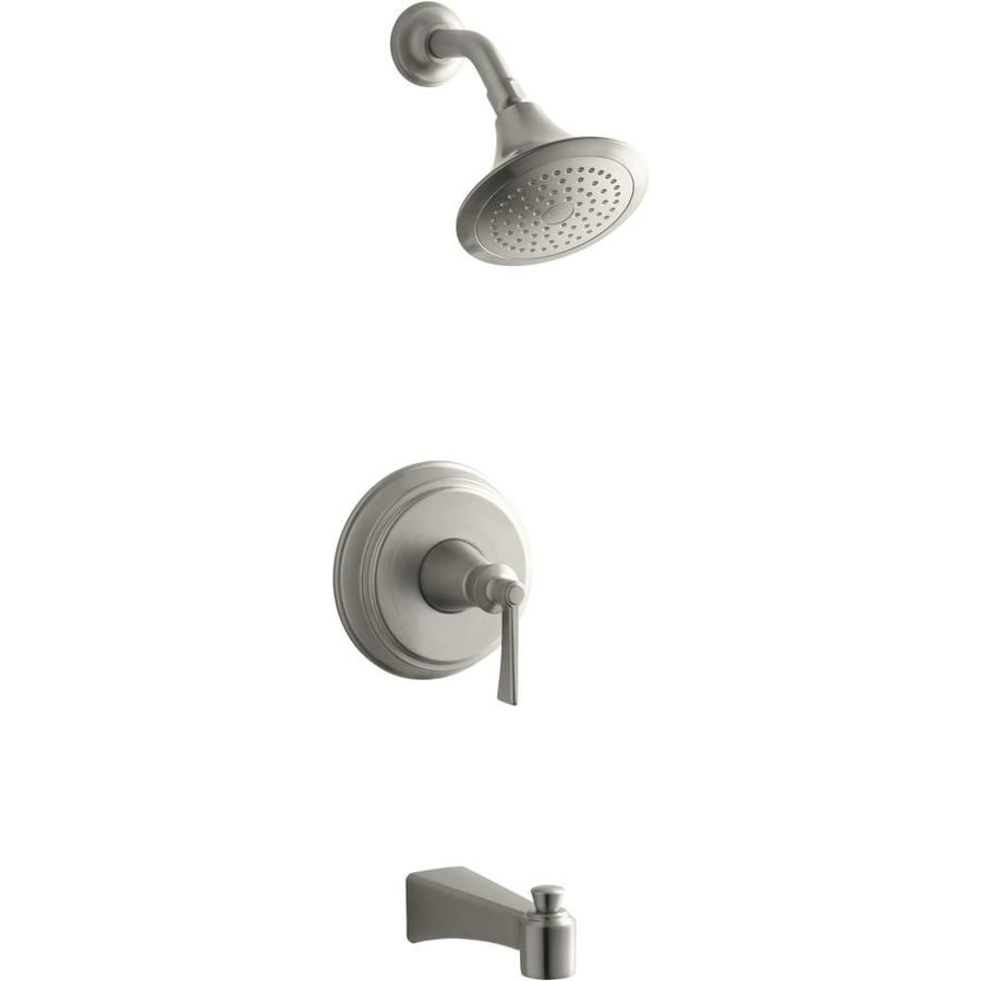 Kohler Bancroft Vibrnat Brushed Nickle 1 Handle Bathtub And Shower