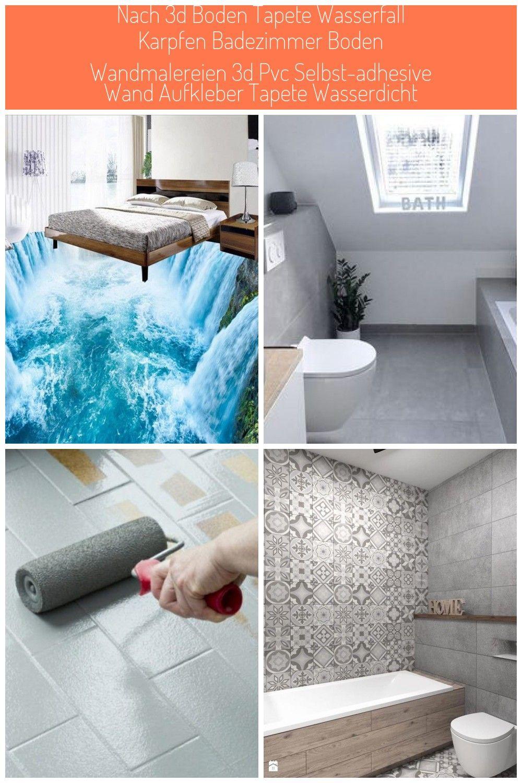 Nach 3d Boden Tapete Wasserfall Karpfen Badezimmer Boden Wandmalereien 3d Pvc Selbst Adhesive Wand A Badezimmer Boden Tapeten Wohnzimmer Boden