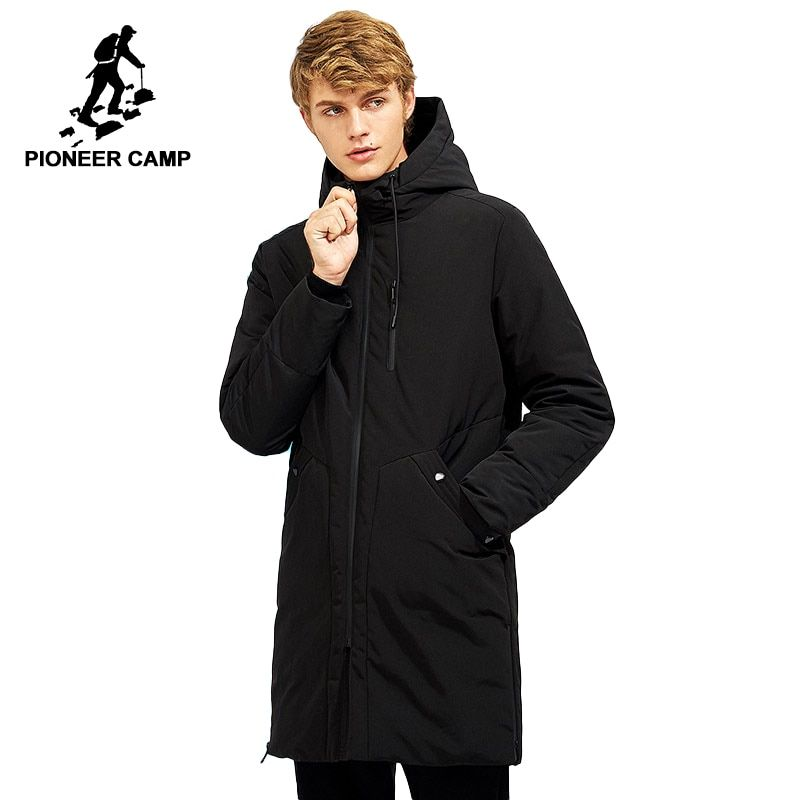 117ef635cf Pioneer Camp waterproof thick winter men's down jacket brand clothing  hooded black long warm white duck down coat male AYR705257 Review
