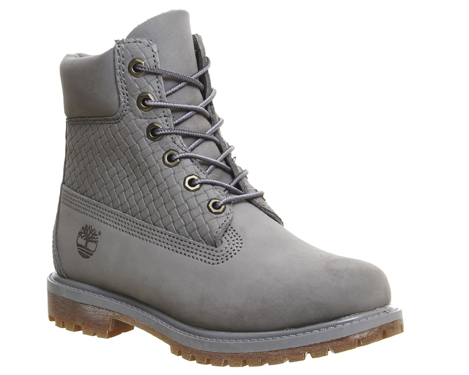 2080a2b9 Buy Grey Nubuck Emboss Timberland Premium 6 Boots from OFFICE.co.uk ...