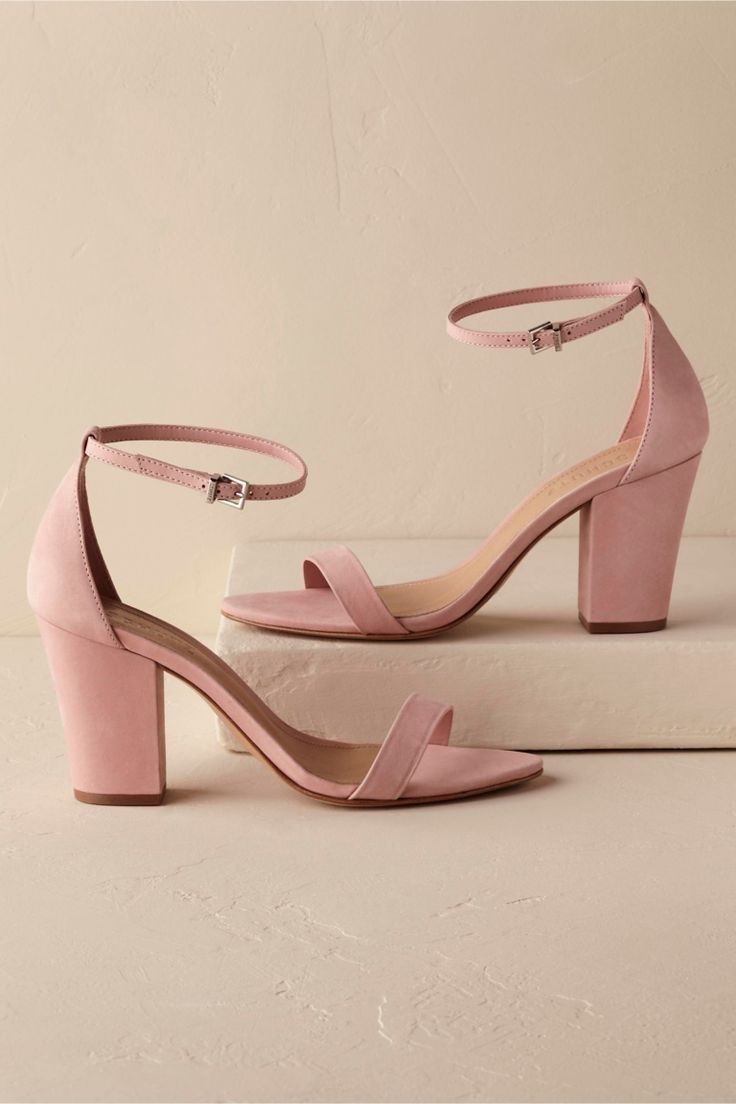 10f43d6d57 10 Gorgeous Mid-Heels for Brides and Bridesmaids | Shoes | Pink ...