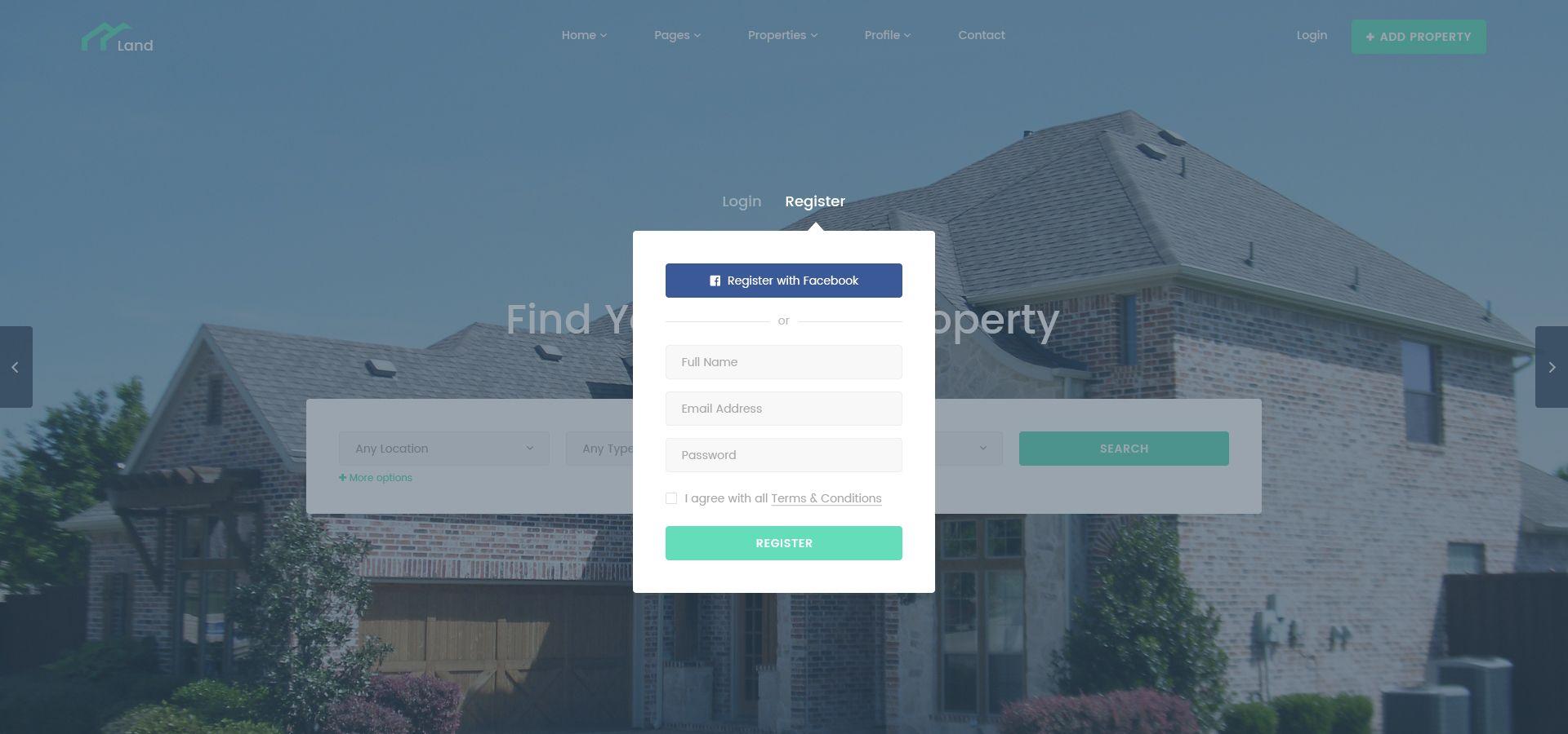 Land Real Estate Property Listing Psd Template Estate Amp