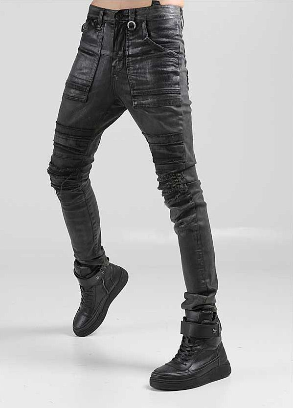 Collection Mens Coated Jeans Pictures - Reikian