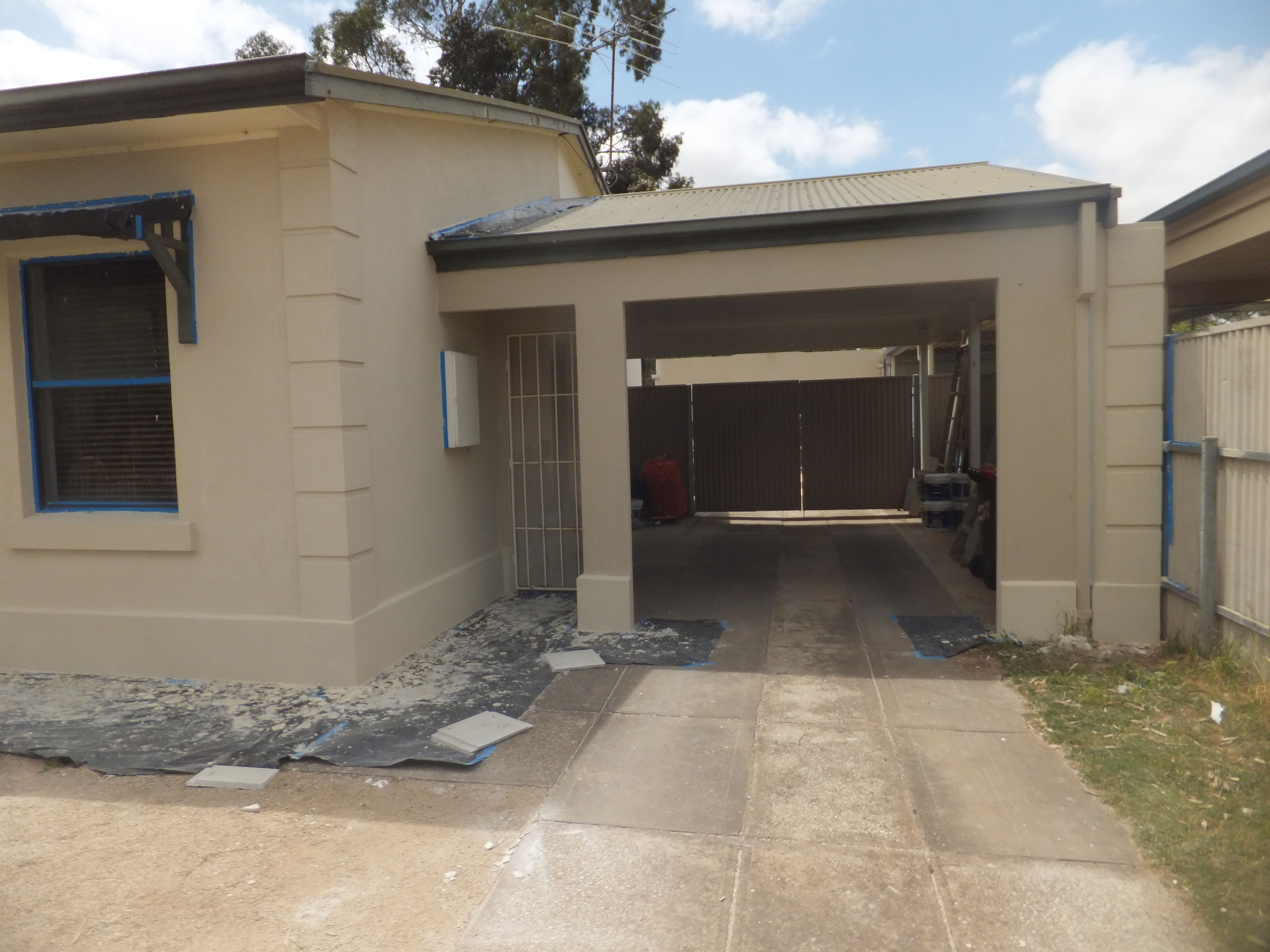When you render the carport or garage you make your house