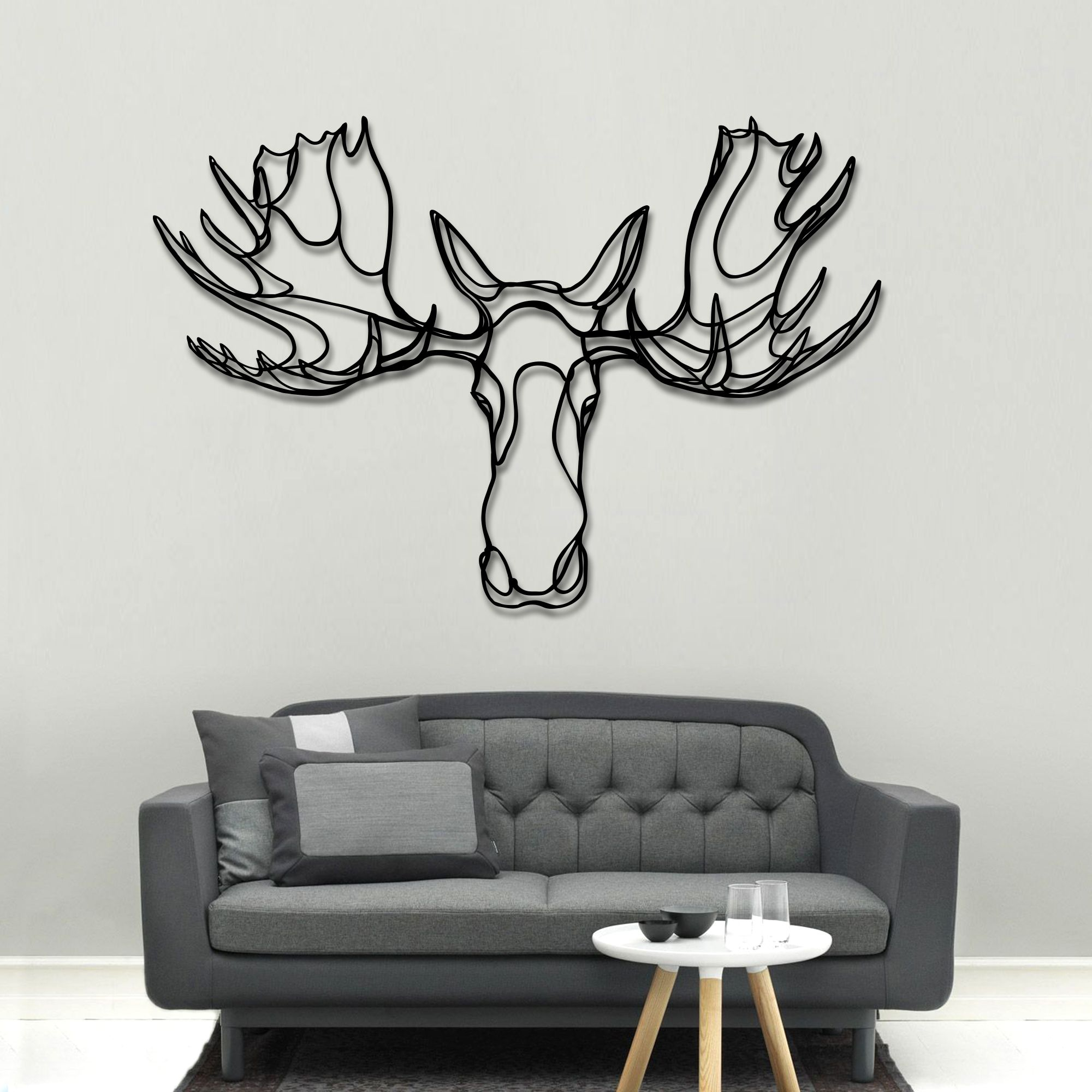 cd5fe1c72 Moose Head Wooden Sign. Buy online today at Bouf | artsy | Wooden ...