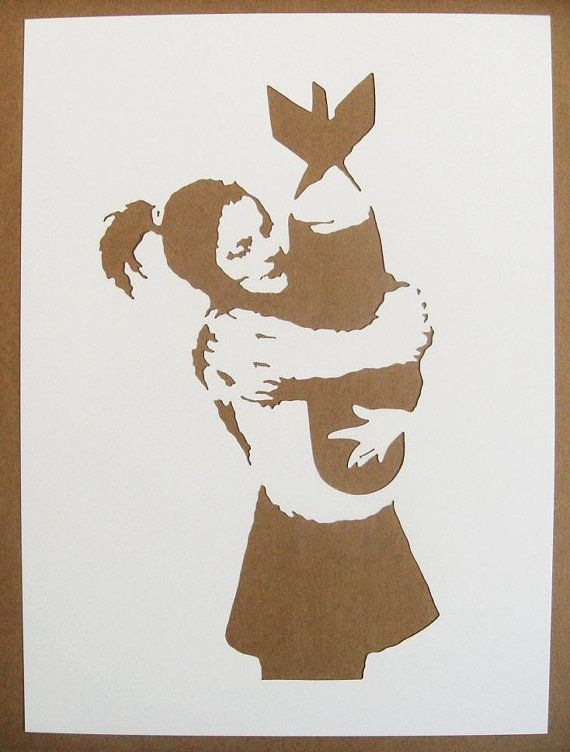 Banksy Stencils Set Of 5 Choose Your Own | Schablone und Kreativ