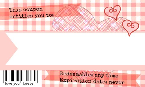 Love Coupons For Him Printable love coupons, coupon and love notes on ...