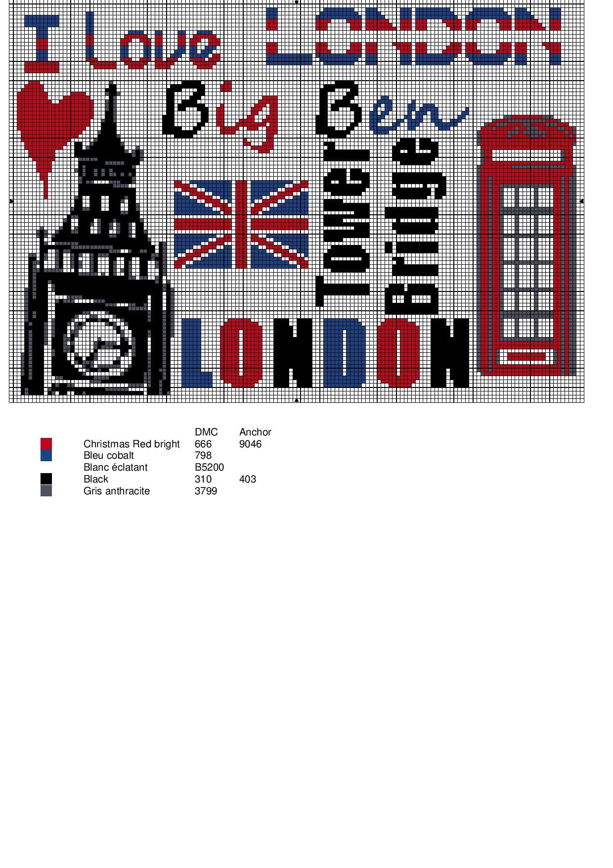 I love London | broderi | Pinterest | Kreuzstich