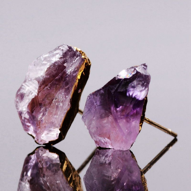 amethyst shape and in big pin stone with the pasquale bruni stones small earrings of