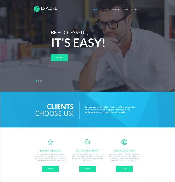Php Website Templates 25 Modern Php Website Themes  Website Themes College Website