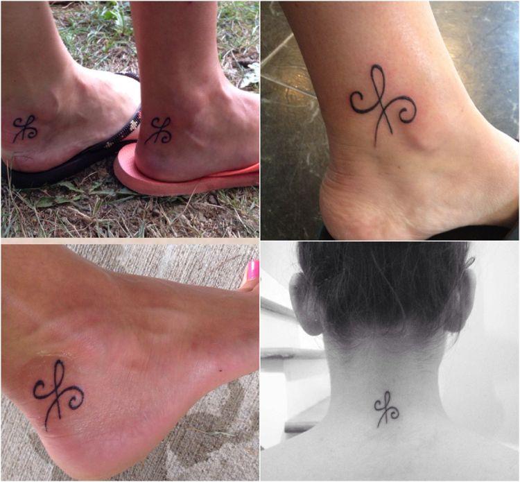 Frau freundschaftstattoo mann und Tattoo Familie