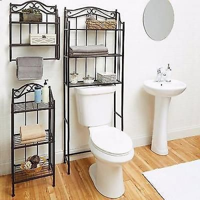 Bathroom Cabinet Over The Toilet Storage Rack Space Saver Shelf