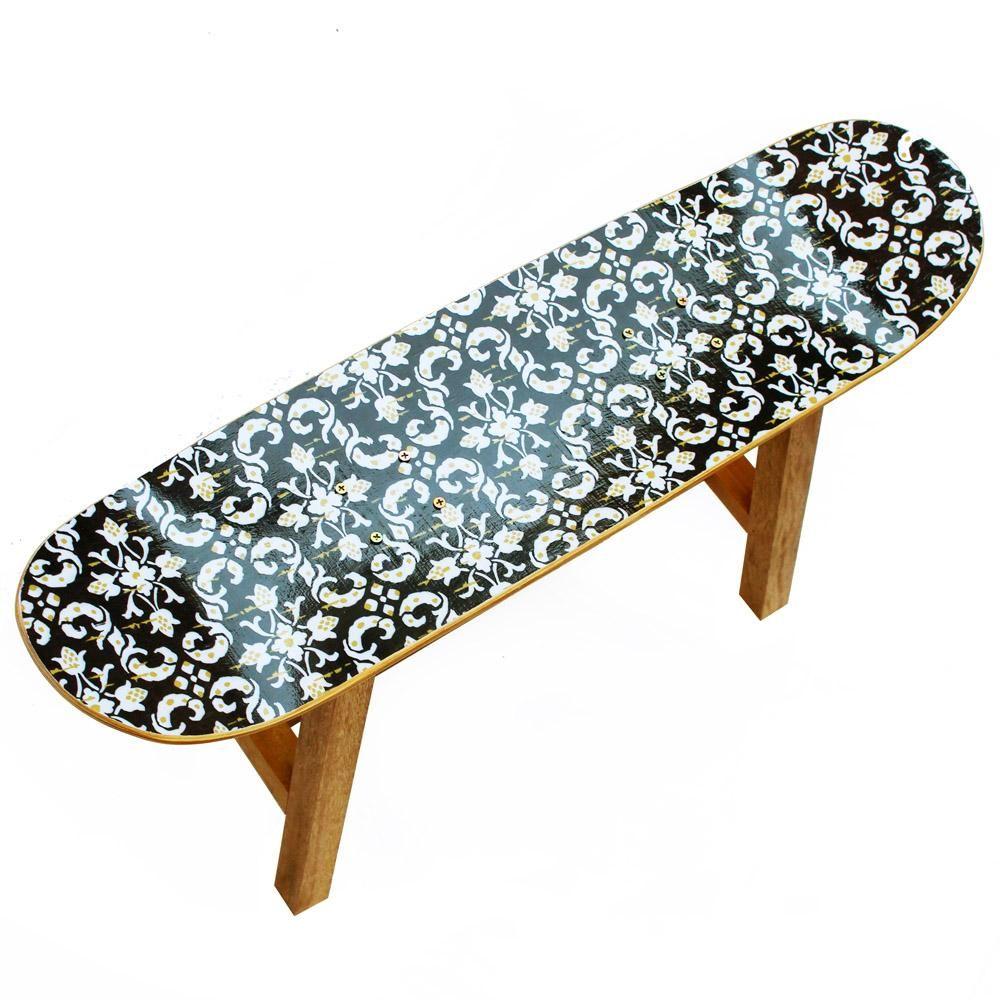 Banco de Skate Ollie Air Navy Paper - Cadeira Decorativa - Magazine Luiza