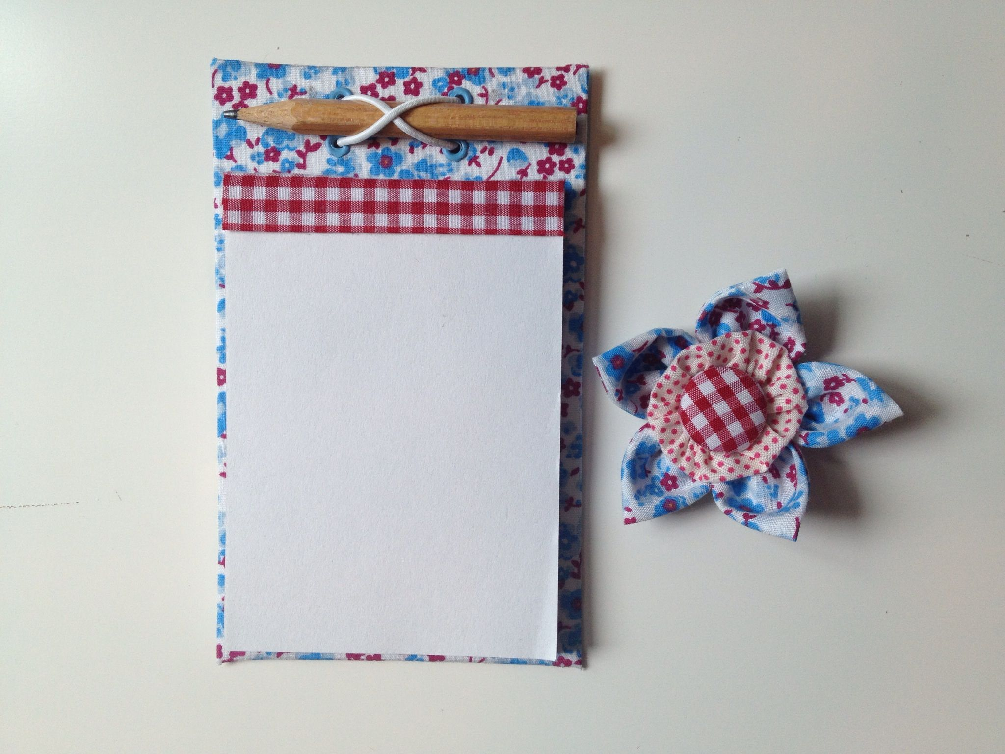 Made with reusable material: milk box and fabric