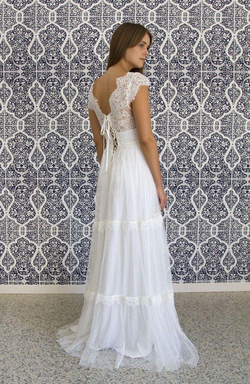 Vestido De Noiva Vintage 2015 Hippie Wedding Dresses Beach Boho Vestido Cheap Chiffon Camouflage Wedding Dress Vestidos De Boda