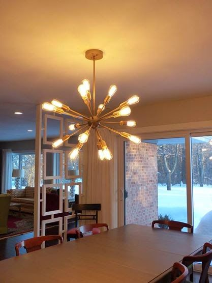 Lowes sputnik chandelier DIY spray painted gold SIMPLE REDESIGN ...