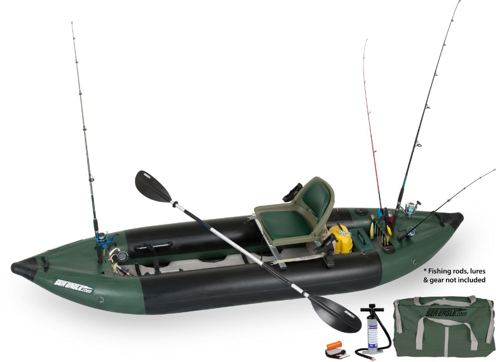 Sea Eagle 375fc Foldcat Inflatable 2 Person Pontoon Boat D Inflatable Fishing Kayak Inflatable Canoe Inflatable Kayak