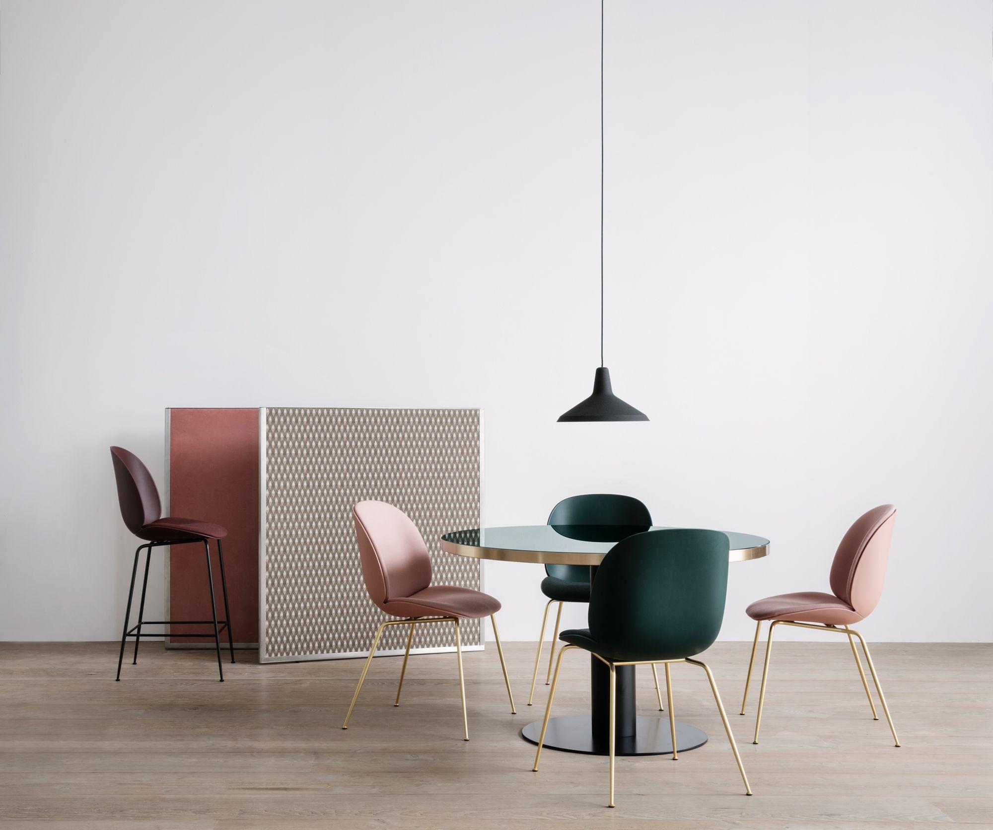 Beetle Counter Chair Seat Upholstered Dark Pink Shell Black Base Kvadrat Steelcut 2 655 Pg4 Gamfr Blue Chairs Living Room Swivel Chair Living Room Chair
