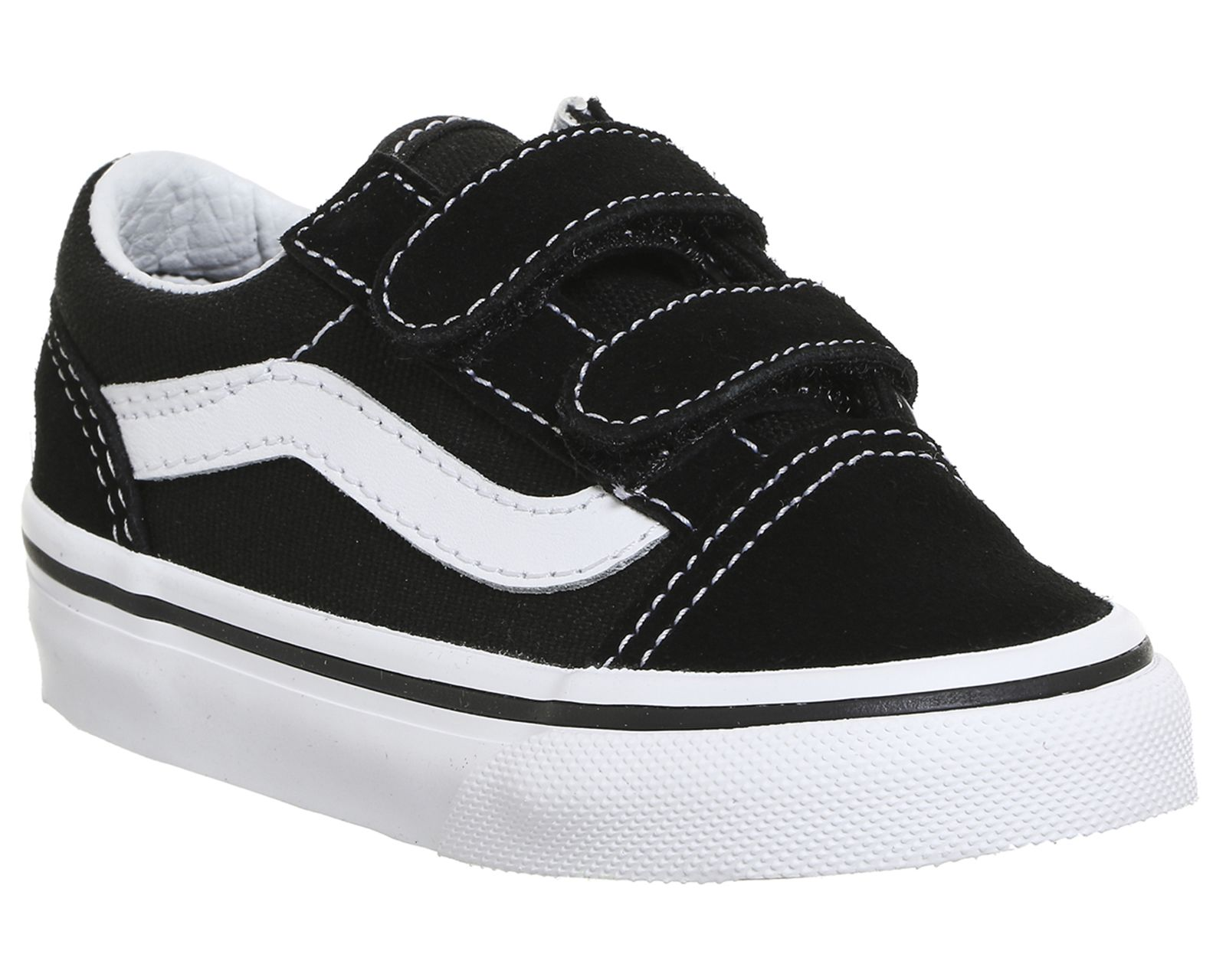 Vans Old Skool Velcro Black True White | Vans old skool, Kid
