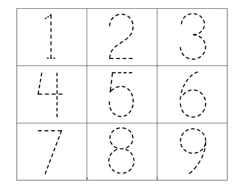 Traceable Numbers Worksheets In