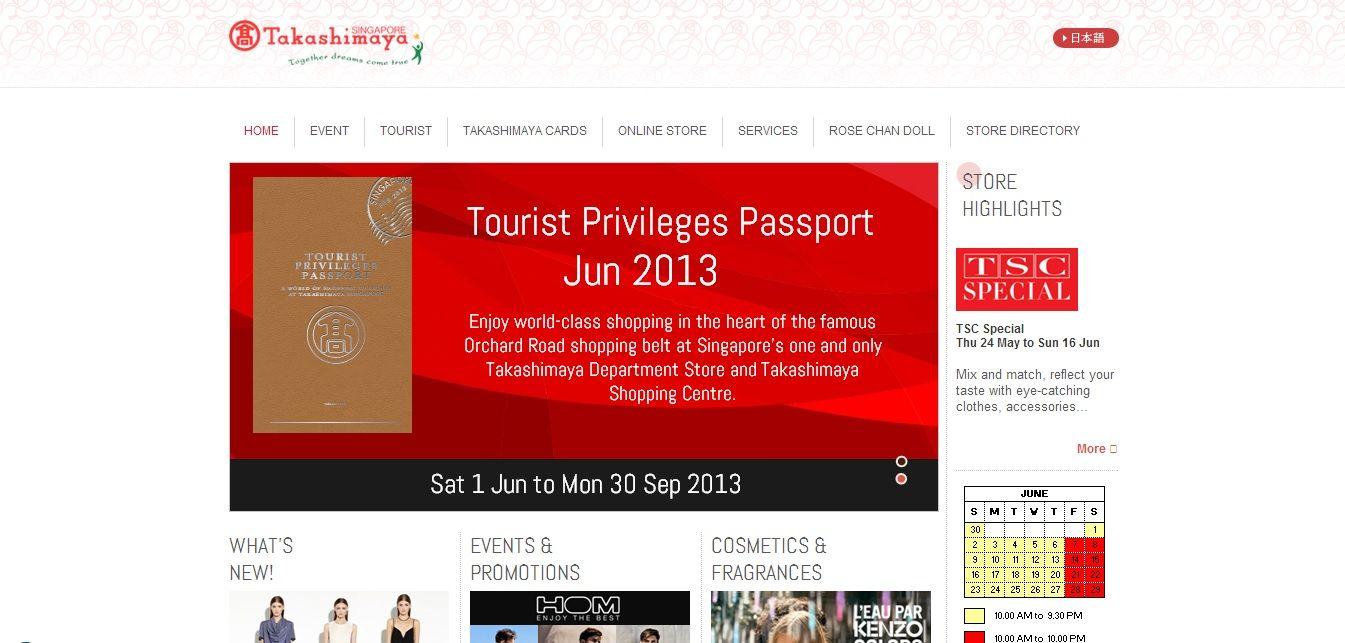 [PEGGY]新加坡Takashimaya http://www.takashimaya-sin.com/  官網也有做行事曆的功能,但只是說明營業時間