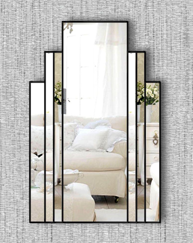 Brooklyn original handcrafted art deco wall mirror with