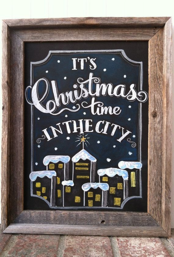 Christmas In The City Holiday Chalk Art By MainStreetChalk