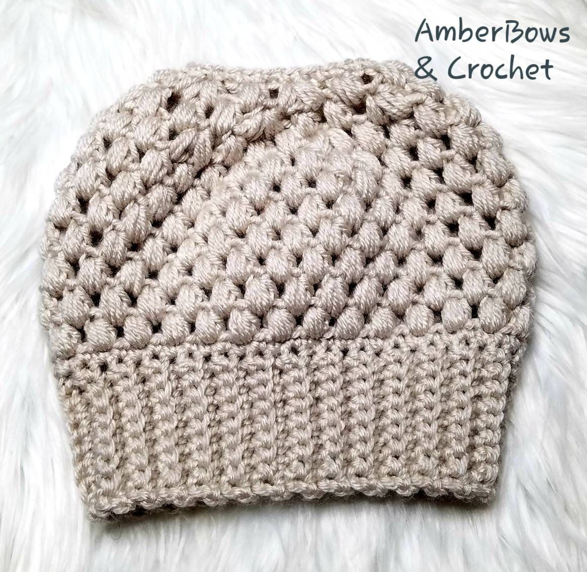 fd0457c4c6718 Youth Crochet Messy Bun Girl s Messy Bun Hat Winter Ponytail Beanie Hat Bun  Hat Viral Bun Beanie by AmberBowsAndCrochet on Etsy