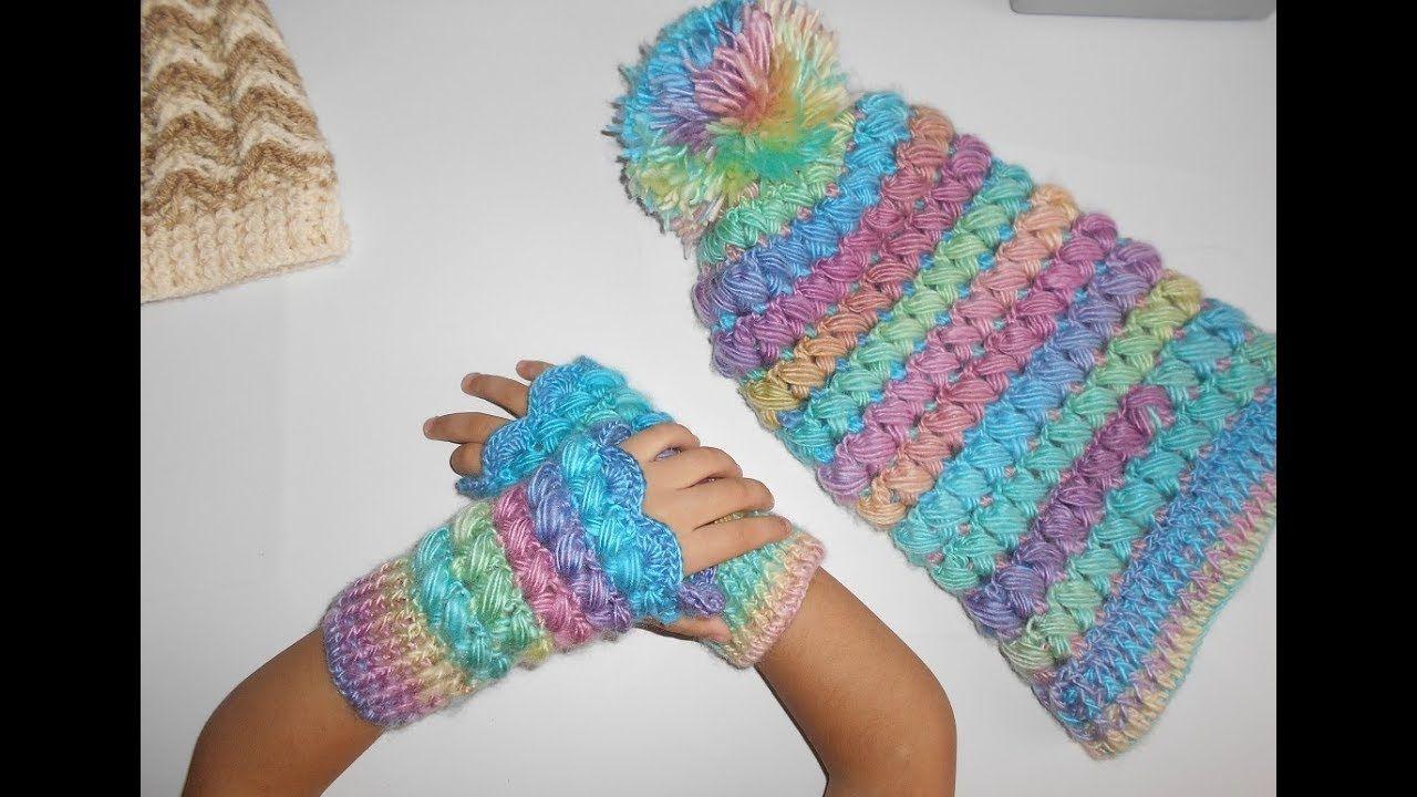Guantes sin dedos ( Mitones a crochet ) paso a paso facil y rapido ...