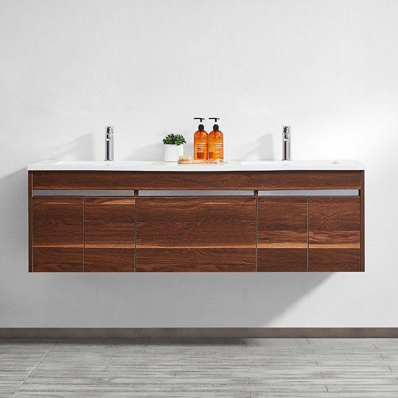 Best Adalynn 60 Double Bathroom Vanity Set Modern Bathroom 640 x 480