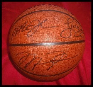 7e05b17821a Michael Jordan Larry Bird And Magic Johnson Autographed/Hand Signed  Basketball . $398.98. 100% authentic. comes with a certificate of  authenticity, ...