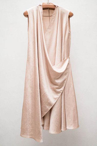 Satin Wrap Dress by Heist