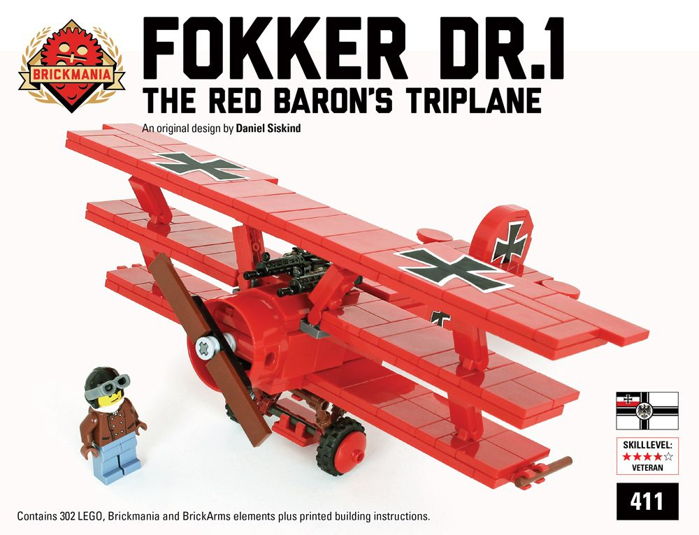 Brickmania Releases Custom Red Baron Fokker Dr 1 Set News The Brothers Brick Red Baron Lego Legos