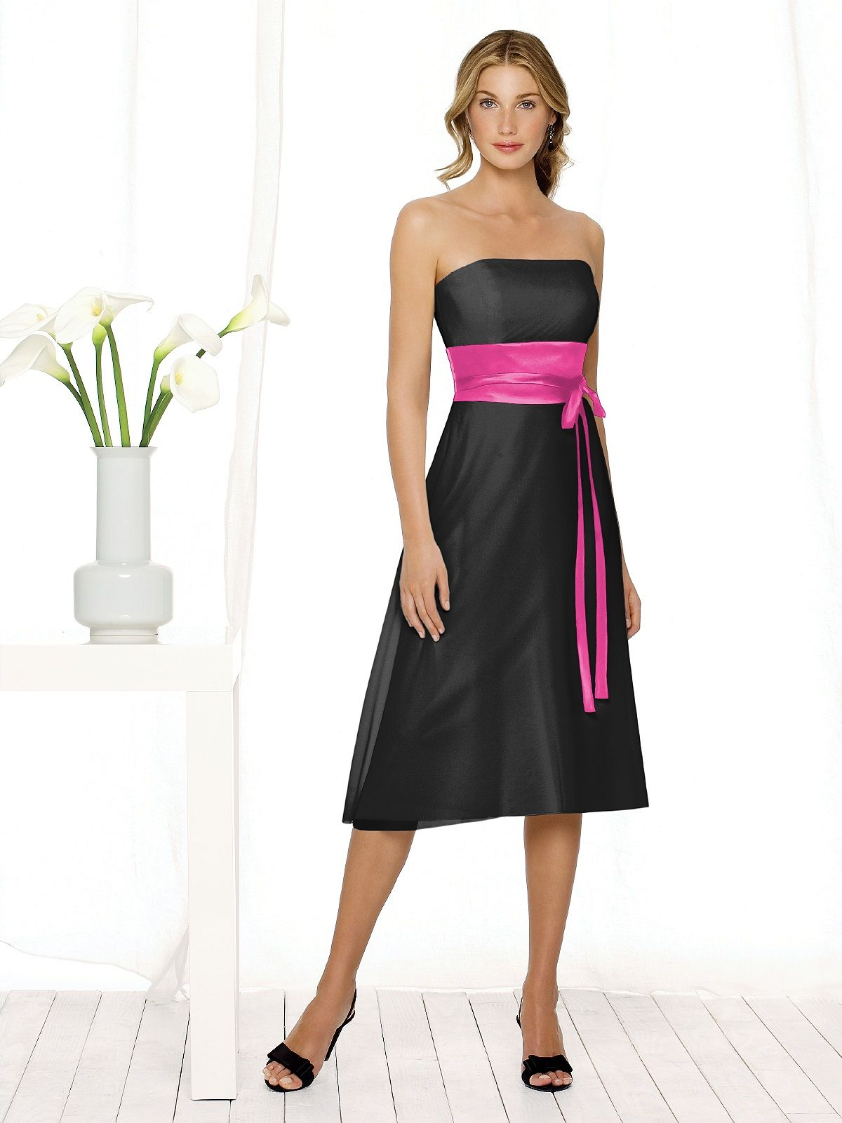 Wedding dresses for black girls  black with fuchsia Girl Dresses Accessories Swatches Mens Wear