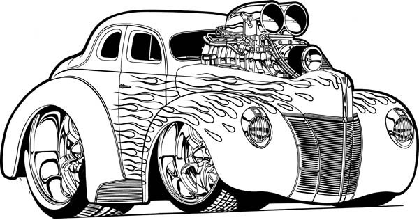 Hot Wheels Super Car With Nos Coloring Page Netart Race Car Coloring Pages Cars Coloring Pages Truck Coloring Pages
