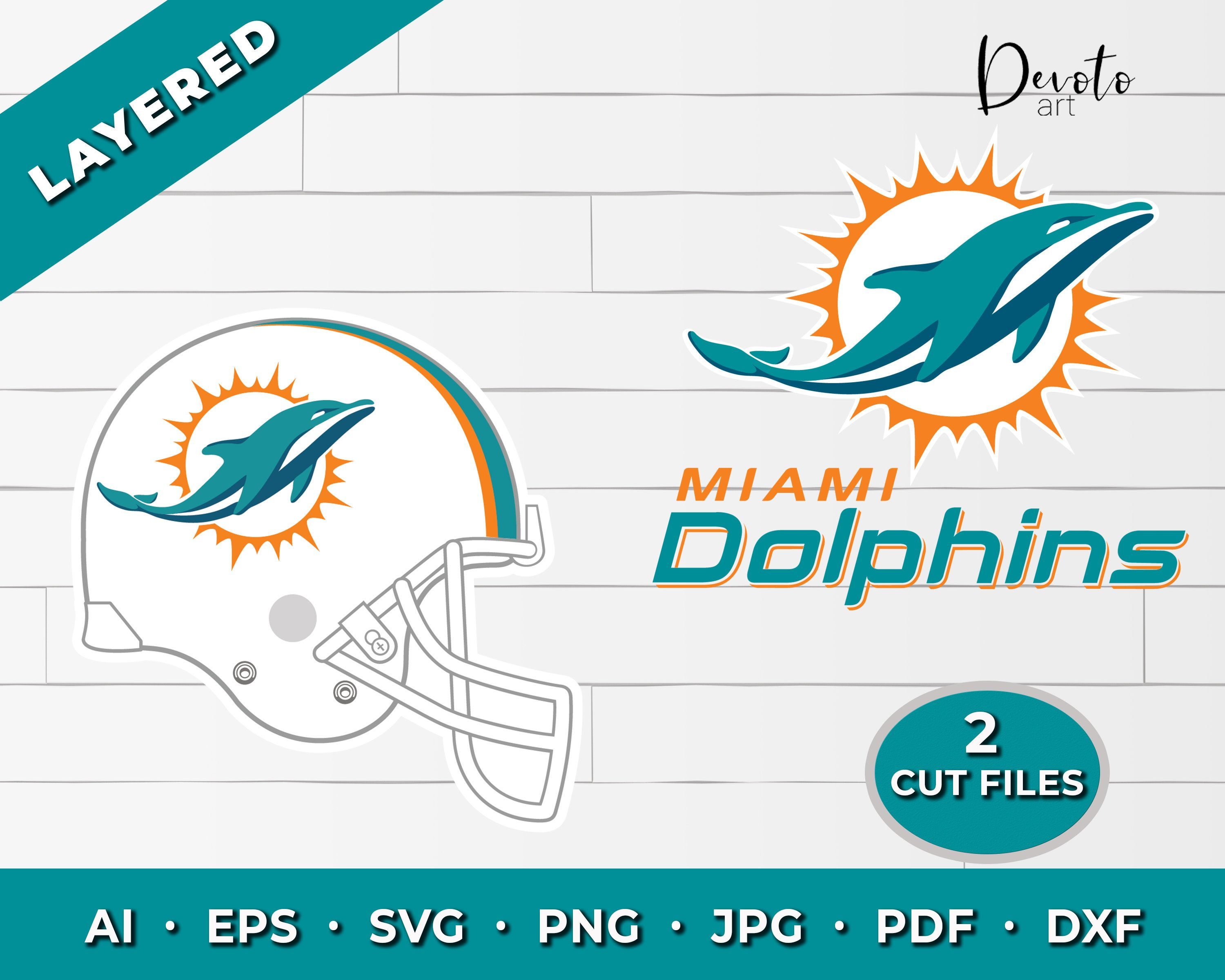 Miami Dolphins svg 2 pack Miami dolphins svg for cricut