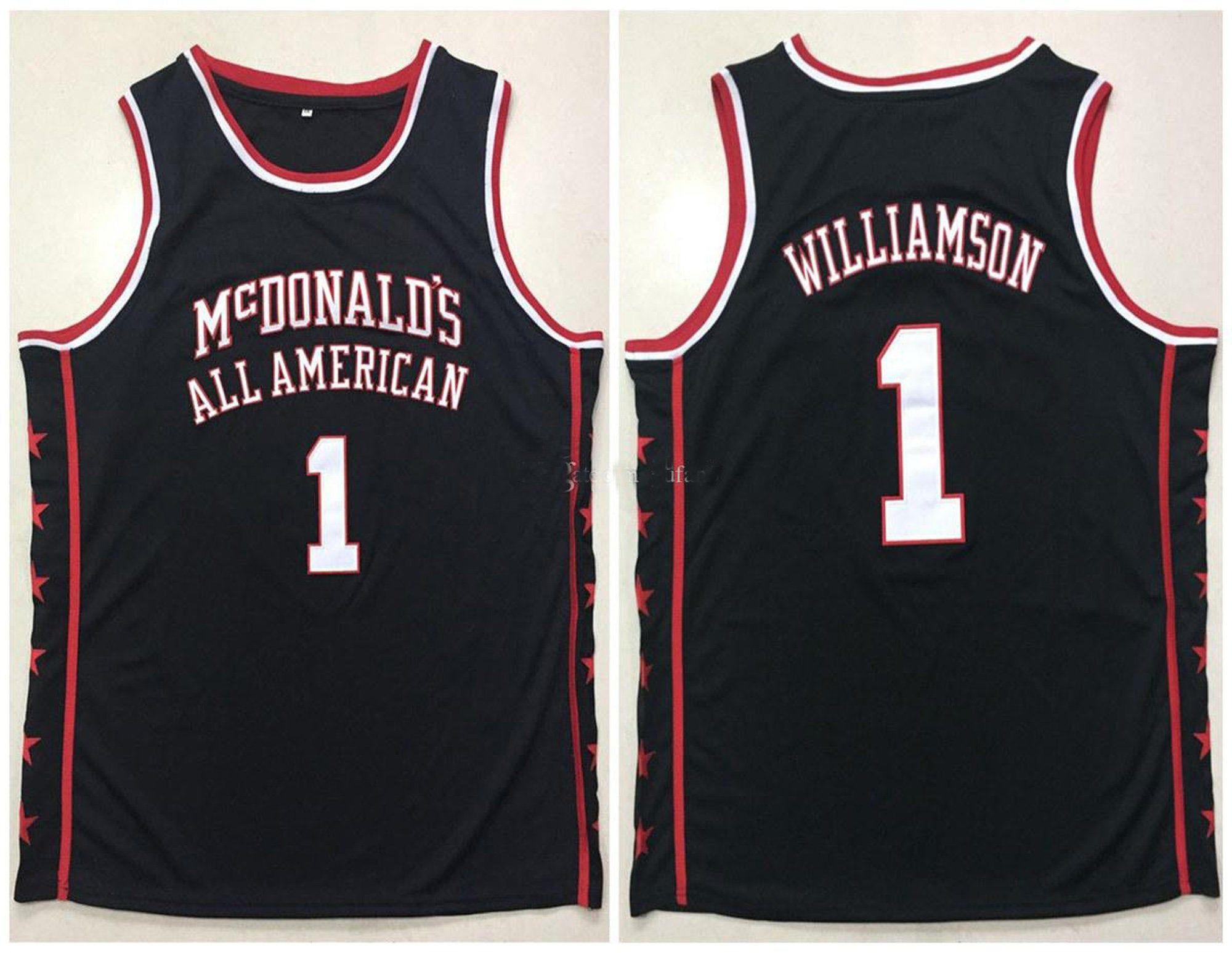 Zion Williamson 1 All American Mcdonald S Basketball Jerseys New Orleans Pelicans Team Jersey Williamson Jersey