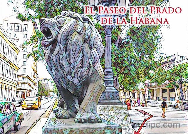 Biografía del famoso Paseo del Prado o de Martí desde 1772, en que fue construida la famosa avenida por el Marques de la Torre. Principales edificaciones y negocios situados a lo largo de esta calle en el pasado