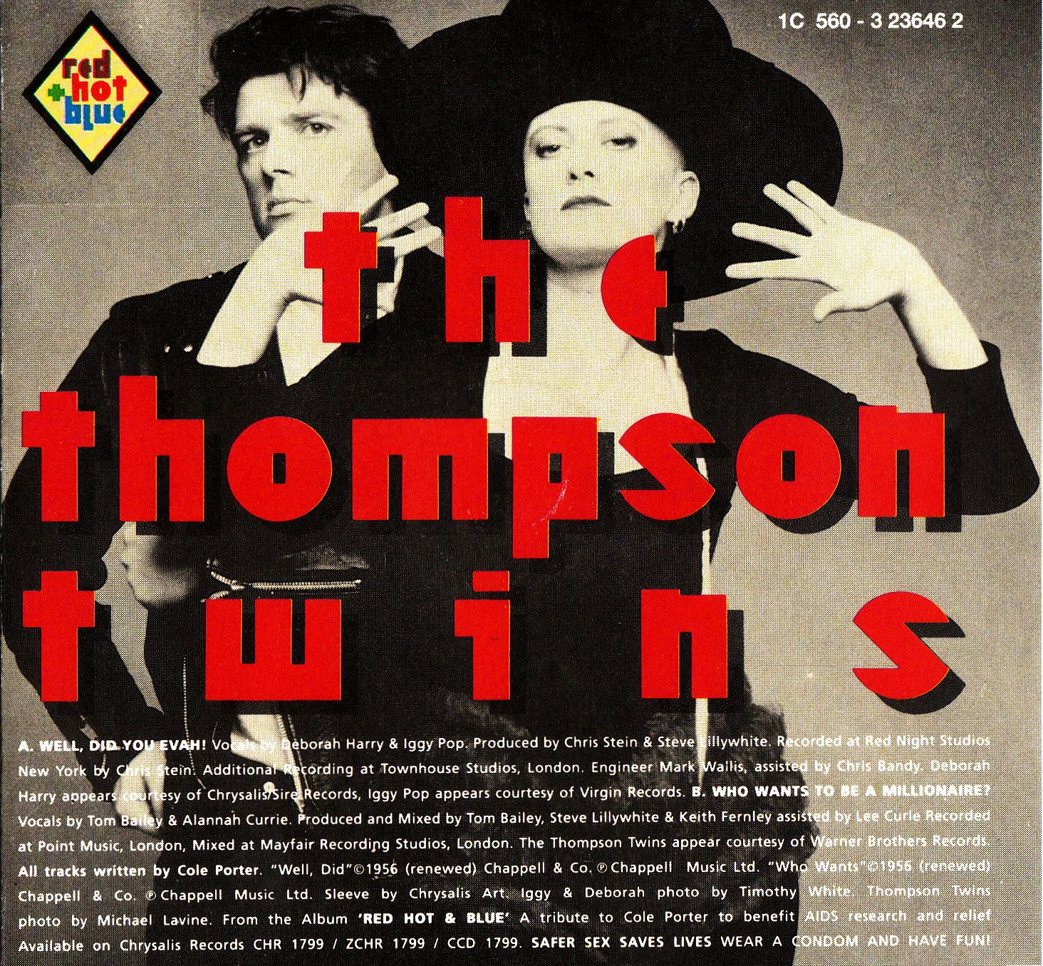 Thompson Twins into the Gap | Who wants to be a millionare ? from the first RED HOT & BLUE Benefit ...