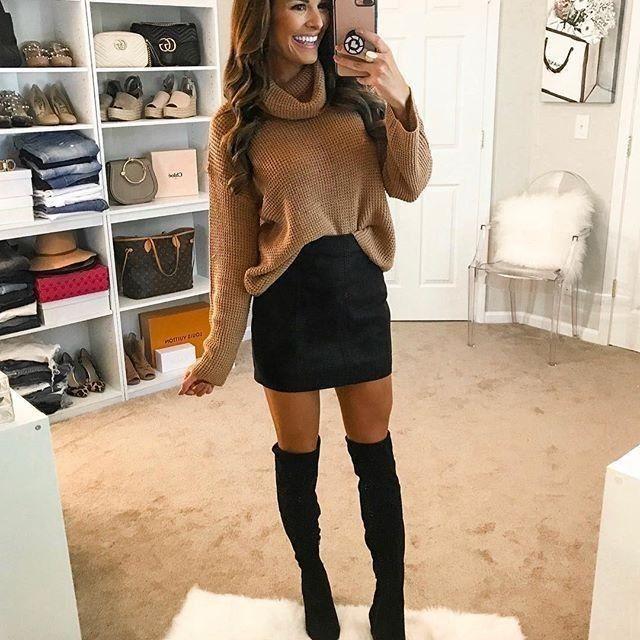 53 schöne Winter-Outfit-Ideen für den Alltag #herbstoutfitdamen