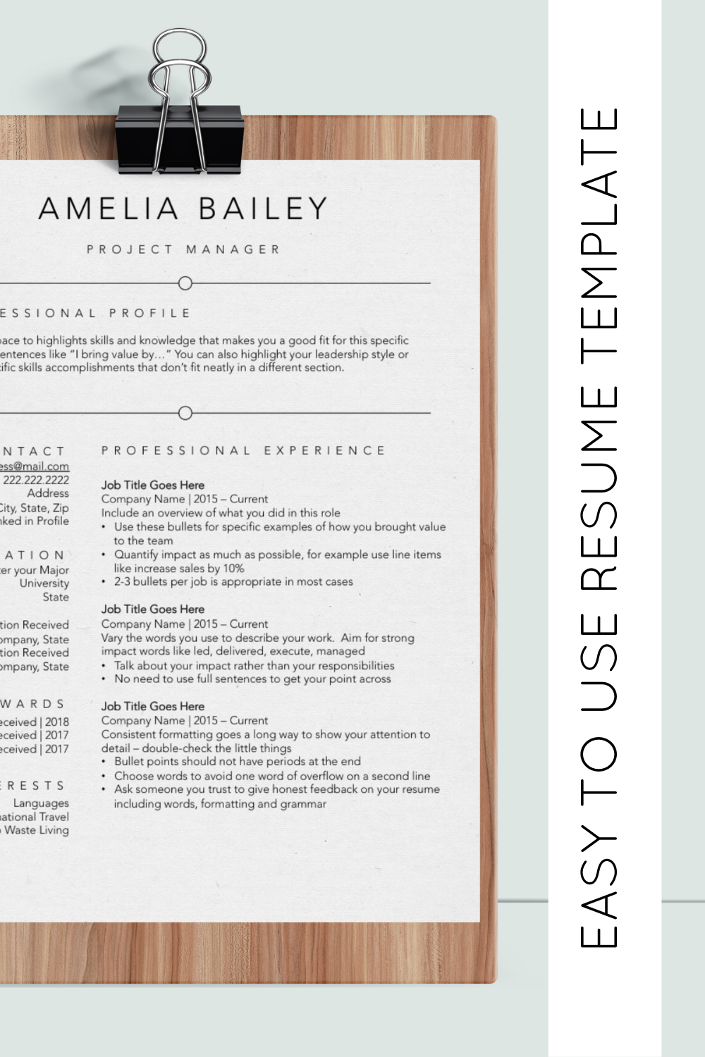 Save Time Updating Your Resume With This Easy To Update Guide And