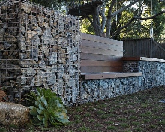 creative landscape architecture ideas built in bench industrial