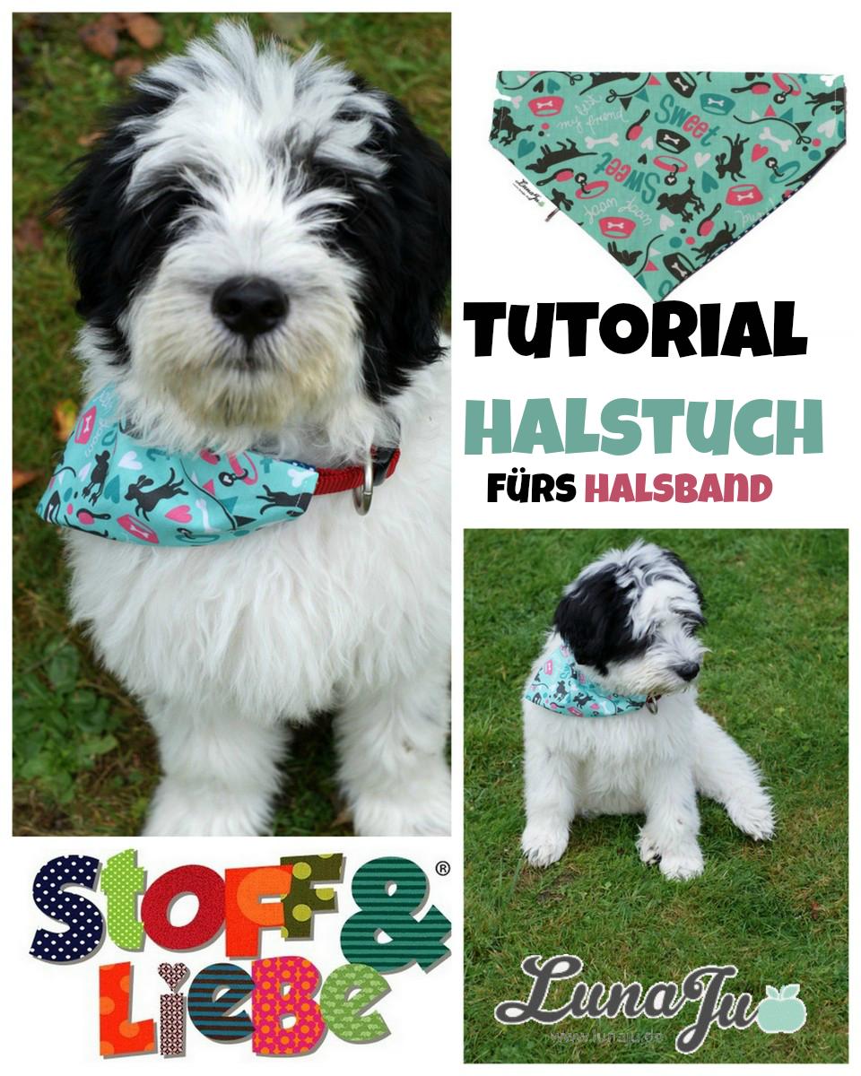 Stoff & Liebe: *** Tutorial Halstuch für Tierhalsband | Sewing ...